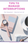 Manage interruptions