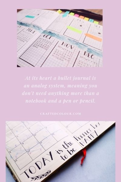 Start setting up a bullet journal